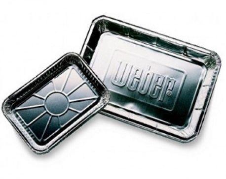 Weber aluminiowe miski ociekowe małe, 10 szt.