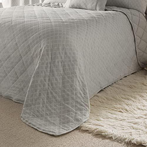 Dreams & Drapes Tkany - Croma - żakardowa narzuta - 240 x 220 cm rozmiar łóżka w kolorze srebrnym
