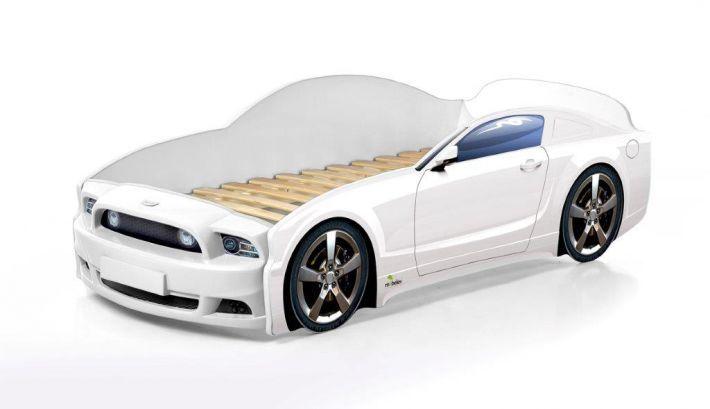 Łóżko LIGHT PLUS 160x70 białe samochód