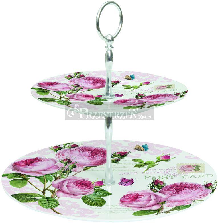 DWUPIĘTROWA PATERA DO CIAST Romantic Roses (326 RMR)