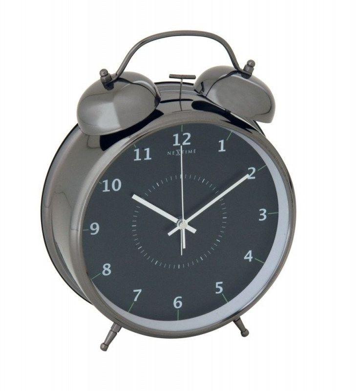 Budzik wake up black, 9 cm - 9 cm