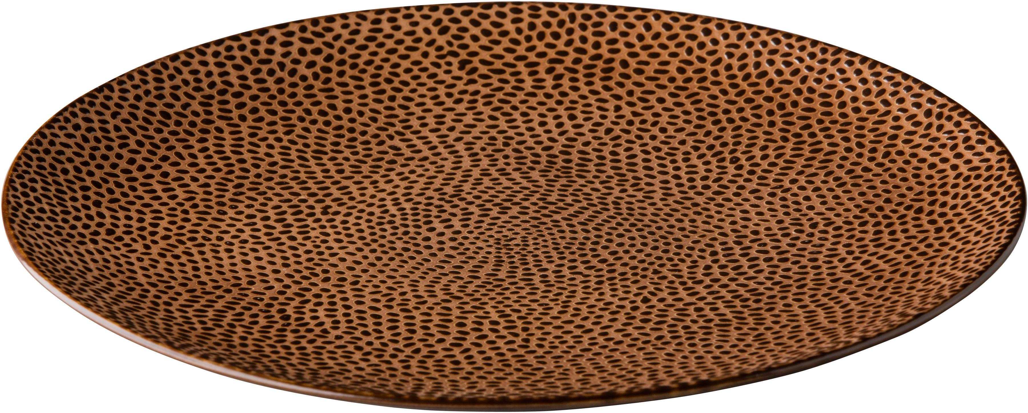 Talerz płytki Honeycomb brązowy 210 mm porcelana Fine Dine 773208