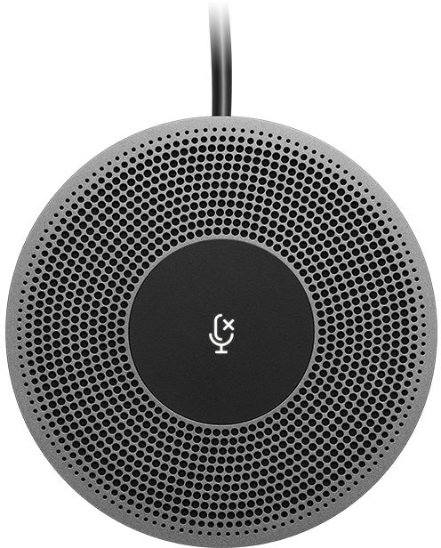 Logitech Presentation microphone Wired 6 m black,Grey MeetUp 8.3 cm