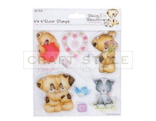 Stemple akrylowe Daisy&Dandelion Lovingly Yours 12szt