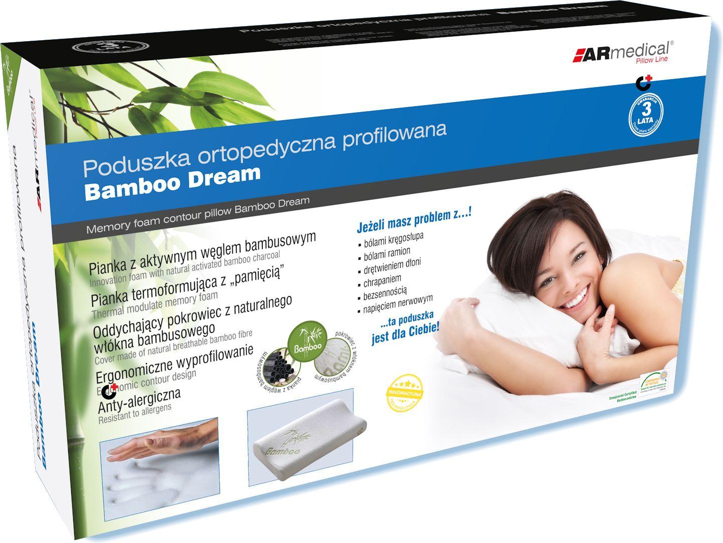 Bambusowa - HYPOALERGICZNA poduszka ortopedyczna z PAMIĘCIĄ (mfp-5030bf)