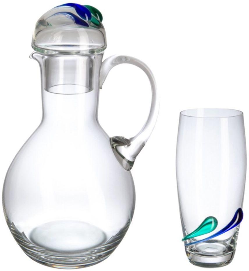 Bohemia zestaw szklanek do soku, szklanych, 36,5 x 15,5 x 45,5 cm, 7 sztuk