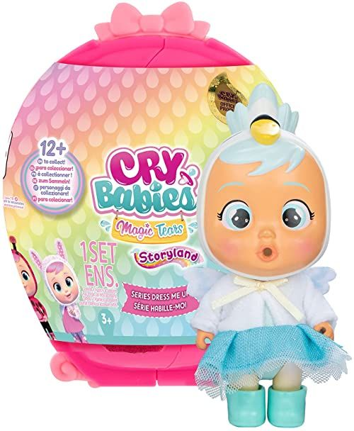 CRY BABIES MAGIC TEARS Dress me Up  mała lalka niespodzianka ze stylowymi strojami i akcesoriami; lalka płacze prawdziwe łzy kultowe; nadaje się od 3 lat.