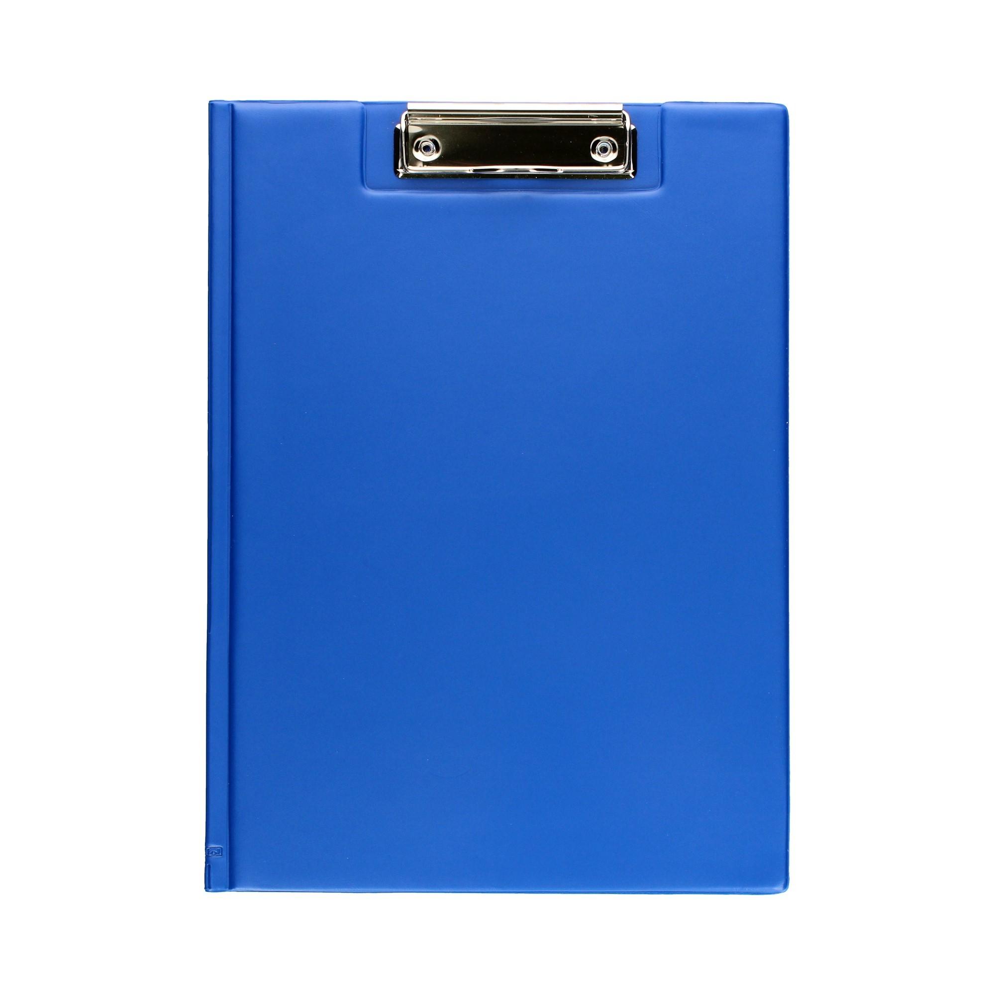 Teczka klip A4 niebieska Biurfol