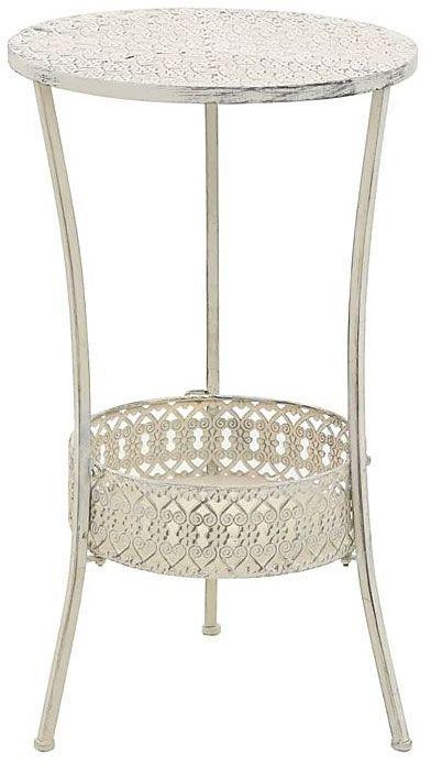 Romantyczny stolik vintage Marin - biały