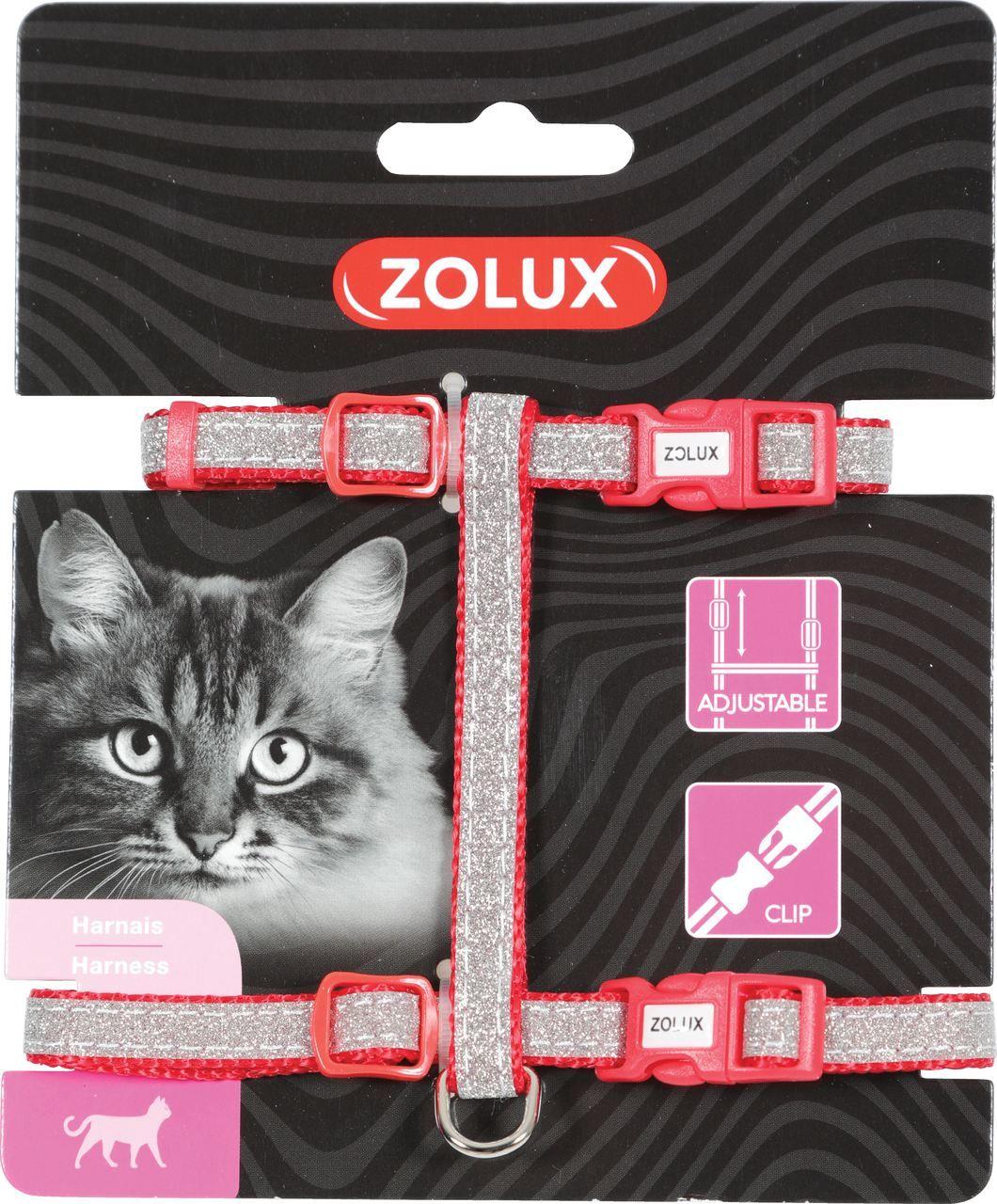 Zolux Szelki nylon regul. Shiny kol. czerwony