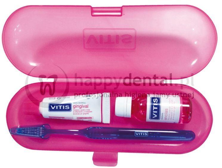 VITIS Gingival zestaw produktów do pielęgnacji dziąseł (pasta+płyn+szczoteczka+etui)