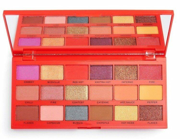 Makeup Revolution TASTY Shadow Palette Paletka Cieni do Powiek Chilli 22g