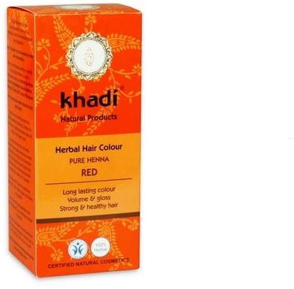Henna Do Włosów Czerwona Ruda Naturalna Khadi