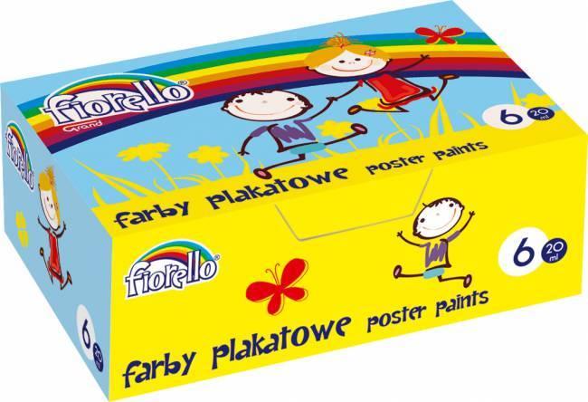 Farby plakatowe FIORELLO 20ml*6 kolorów (L) - X00557