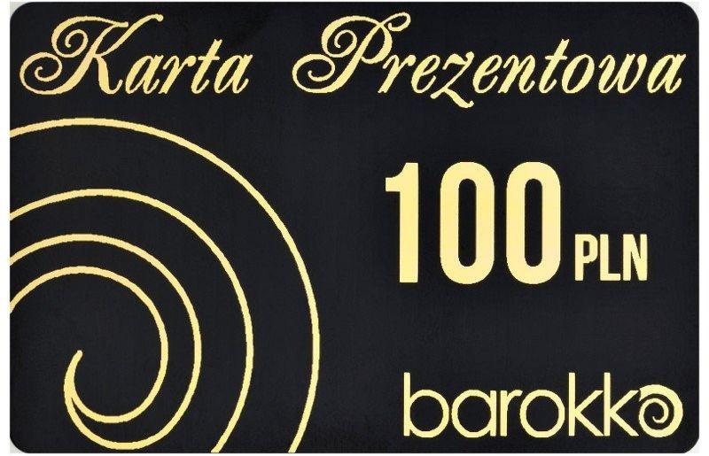 Barokko - karta podarunkowa czarna - 100 zł