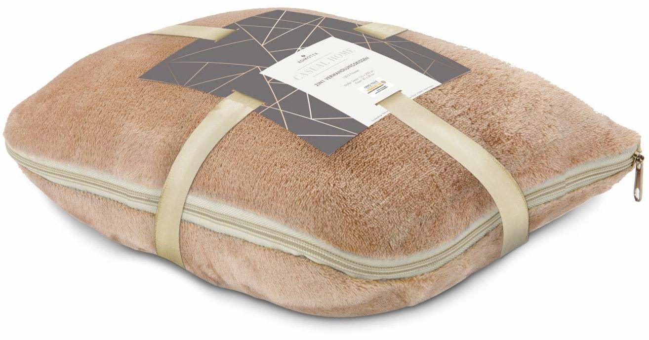 Römer Wellness 2 w 1, poduszka i koc w jednym, karmel, idealna na następną podróż, 30 x 38 x 15 cm