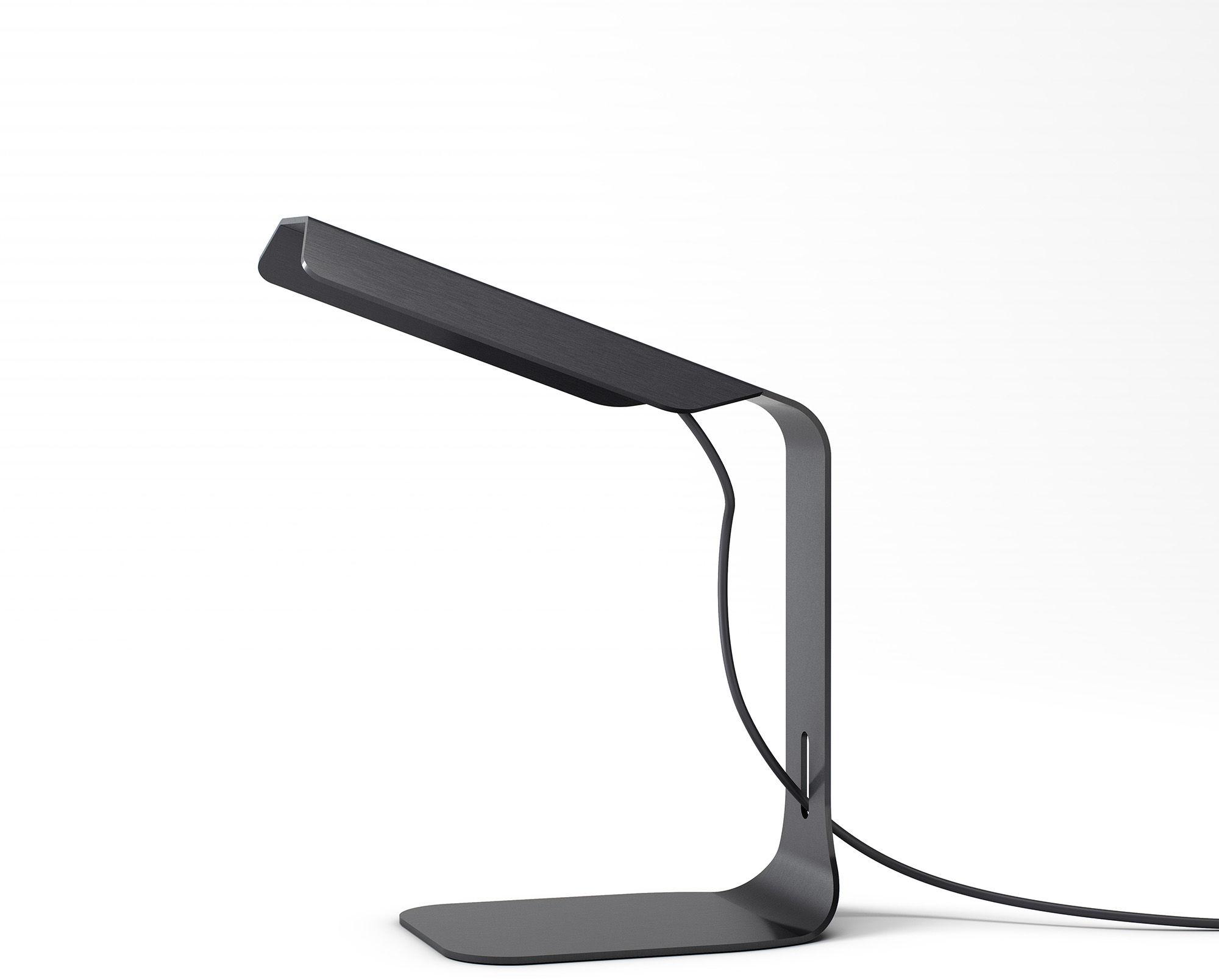 Lampa biurkowa Folio M-3245 Estiluz czarna oprawa w stylu design