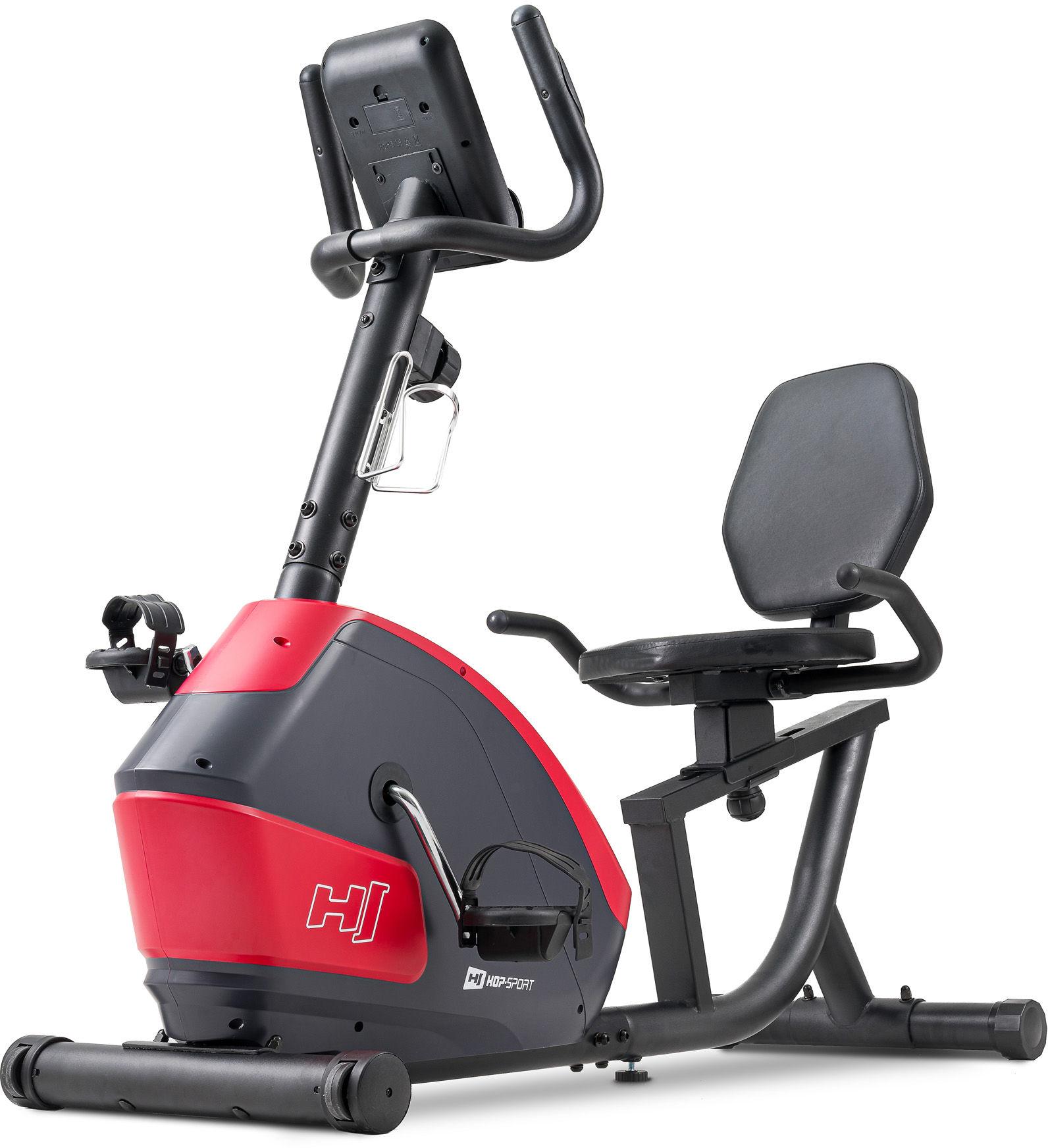 Rower leżący magnetyczny HS-035L Solo Czerwony