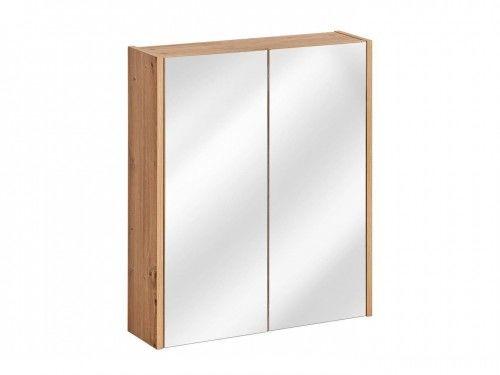 Szafka z lustrem 2D 60x16x72cm Dąb Artisan, Madera Grey 840