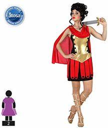 Atosa 57556 kostium żołnierz rzymski kobieta XL czerwony karnawał, kobiety