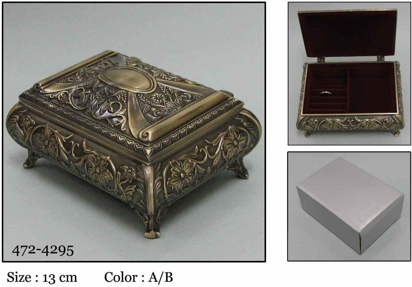 Kasetka, stare złoto, 12,5x9,5 cm
