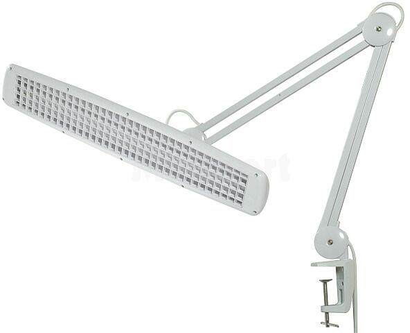 Lampa warsztatowa z rastrem i 3 świetlówkami liniowymi T5/14W