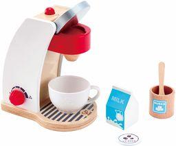 Hape E3146 - Mój ekspres do kawy, akcesoria do kuchni dla dzieci i sklepów, z drewna