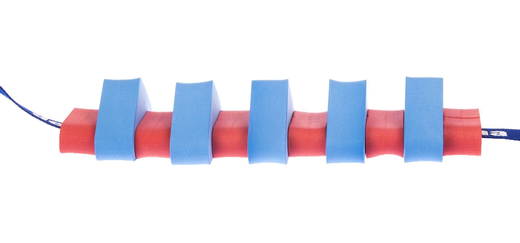 Pas pływacki dla dzieci 1000 niebieski/czerwony