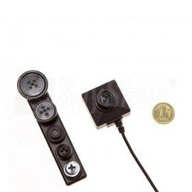 Minikamera BU-19 ukryta w guziku lub śrubie