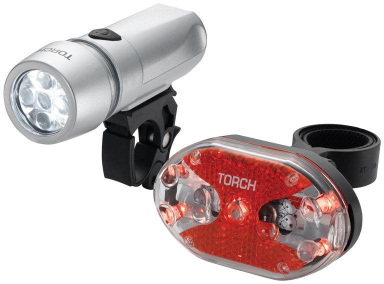 Zestaw lampki TORCH CYCLE LIGHT SET HIGH BEAMER WHITE 5X + TAIL BRIGHT 5X TOR-54032,7290001540329
