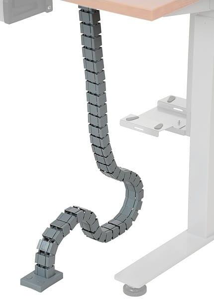 Pionowy kanał kablowy (aluminium) do stelaża z elektryczną regulacją wysokości
