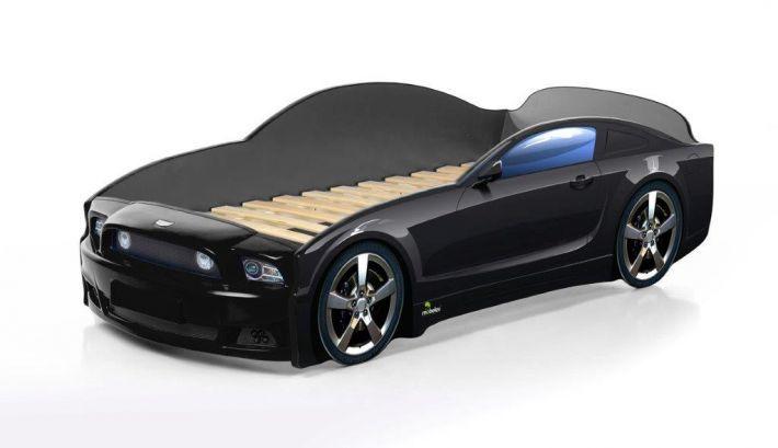 Łóżko LIGHT PLUS 160x70 czarne samochód