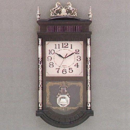 Duży zegar z muzyką i wahadłem #T608G