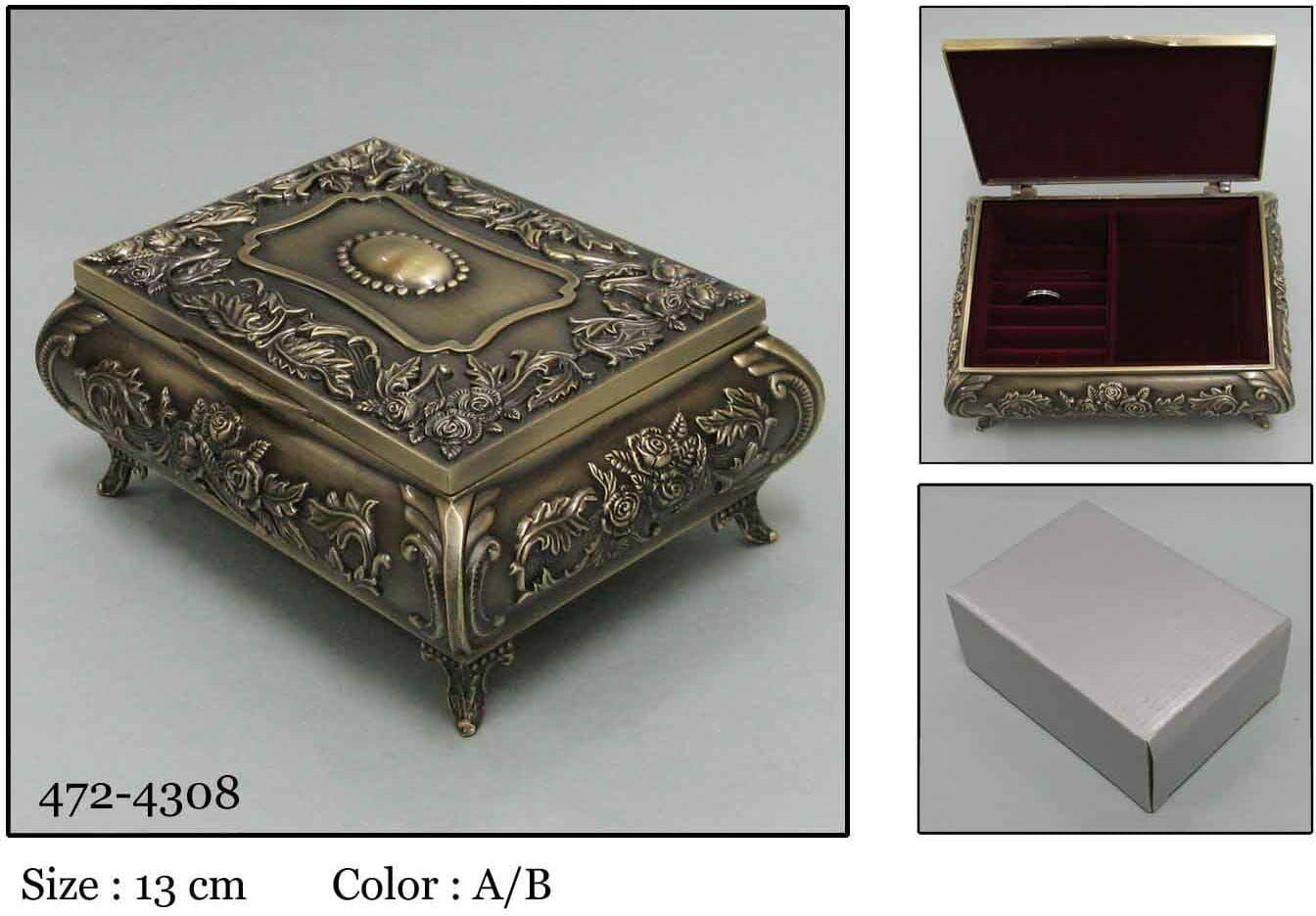 Kasetka, stare złoto, 11,5x9 cm