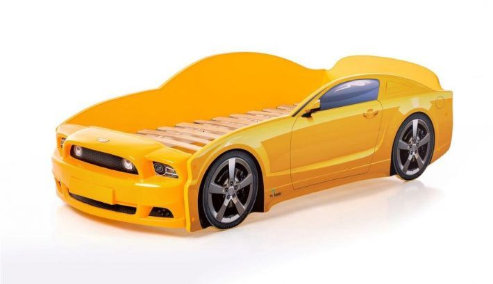 Łóżko LIGHT PLUS 160x70 żółte samochód