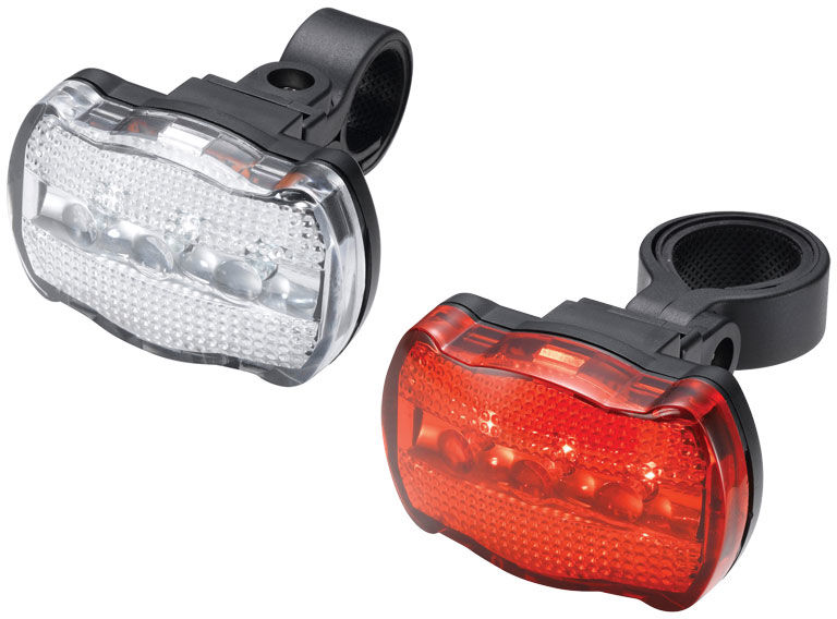 Zestaw lampki TORCH CYCLE LIGHT SET WHITE BRIGHT 3X + TAIL BRIGHT 3X (+baterie) TOR-54037,7290001540374