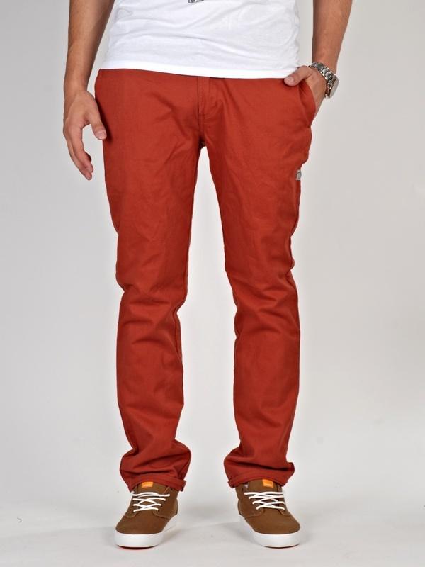 Vehicle GORRY RED spodnie lniane mężczyzn - 28