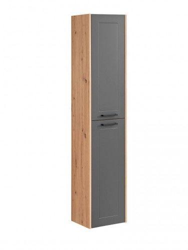 Szafka wysoka 2D 170x35x30cm Dąb Artisan Szary Madera Grey 800