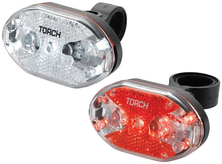 Zestaw lampki TORCH CYCLE LIGHT SET WHITE BRIGHT 5X + TAIL BRIGHT 5X TOR-54039,7290001540398
