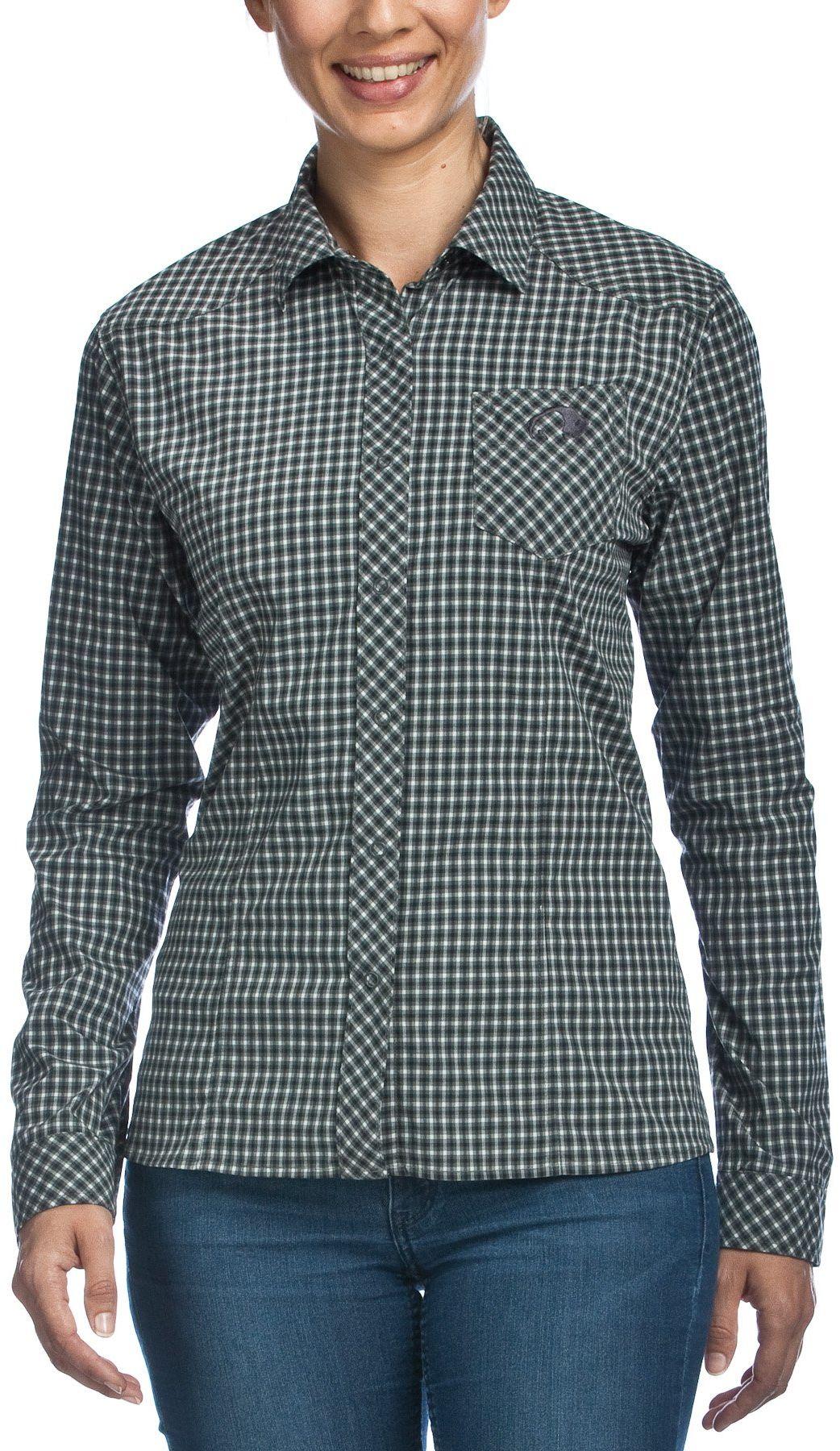 Tatonka Damska bluzka Camden W''s Long Sleeve Shirt, Carbon, 40, M383