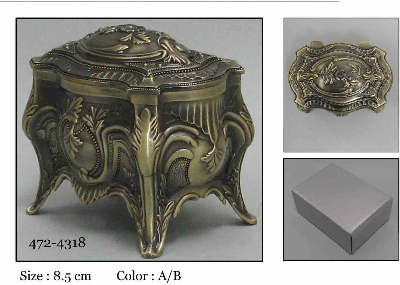 Kasetka, stare złoto, 8x5 cm
