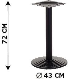 Podstawa stolika żeliwna SH-5005-1/B, (stelaż stolika), kolor czarny