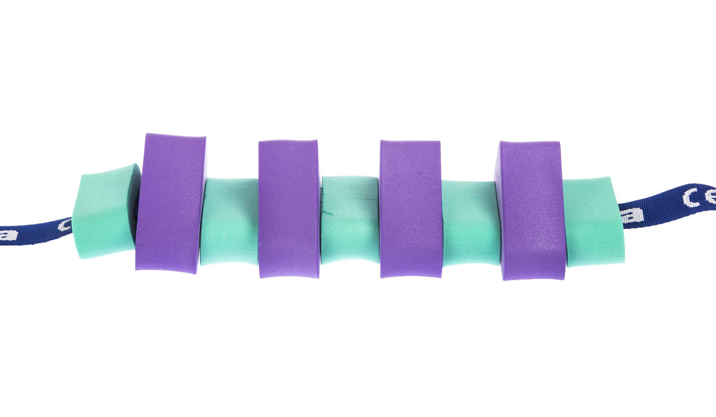 Pas pływacki dla dzieci 850 fioletowo/zielony
