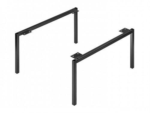 Nogi do szafek Madera 20x44cm, Czarny mat, metalowe Madera 881