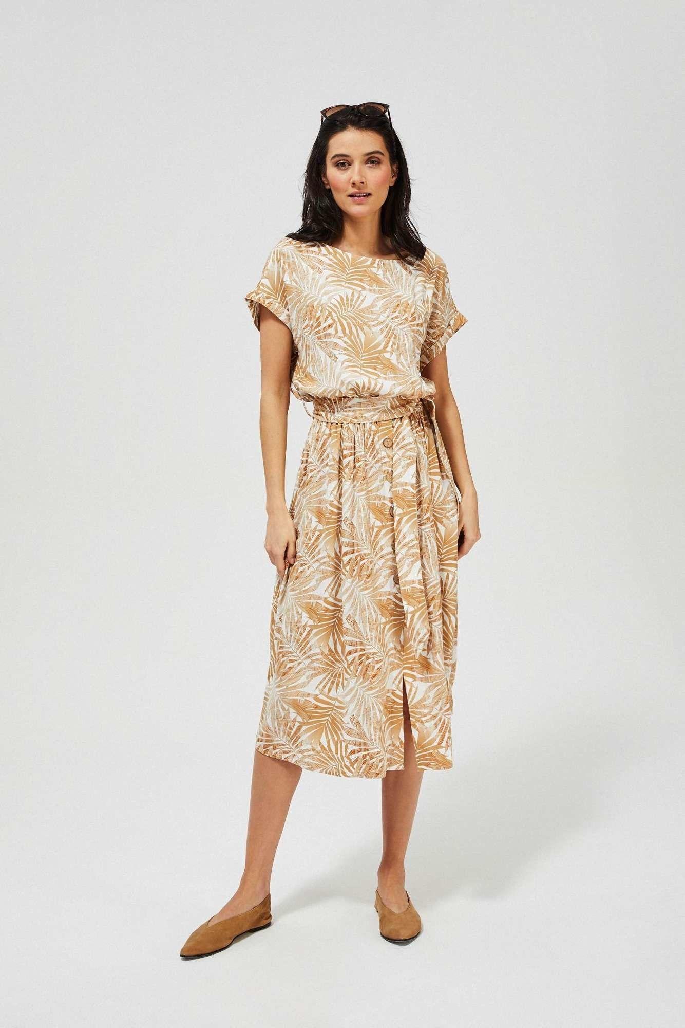 Sukienka z wiskozy z wiązaniem