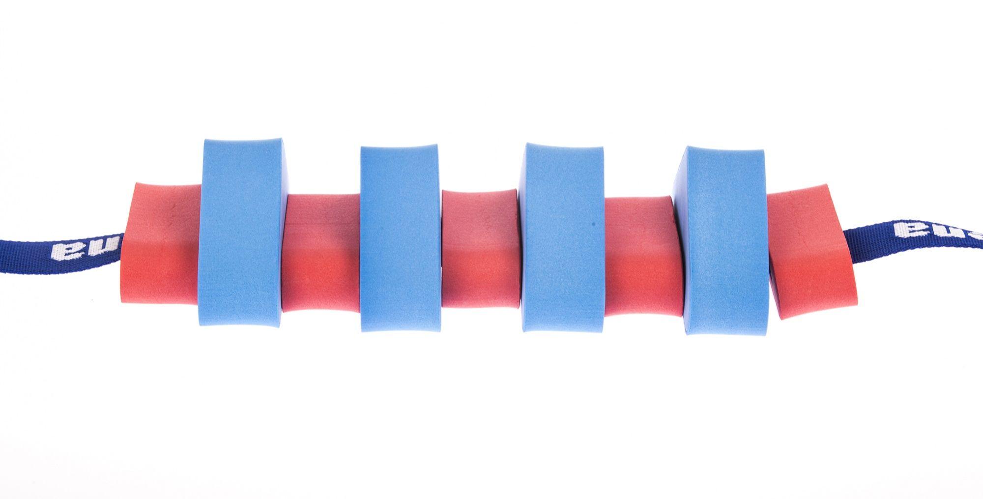 Pas pływacki dla dzieci 850 niebieski/czerwony