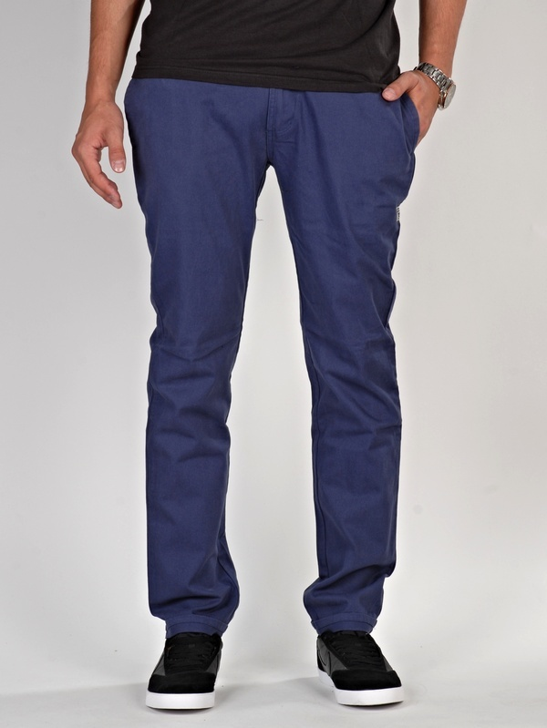 Vehicle GORRY blue spodnie lniane mężczyzn
