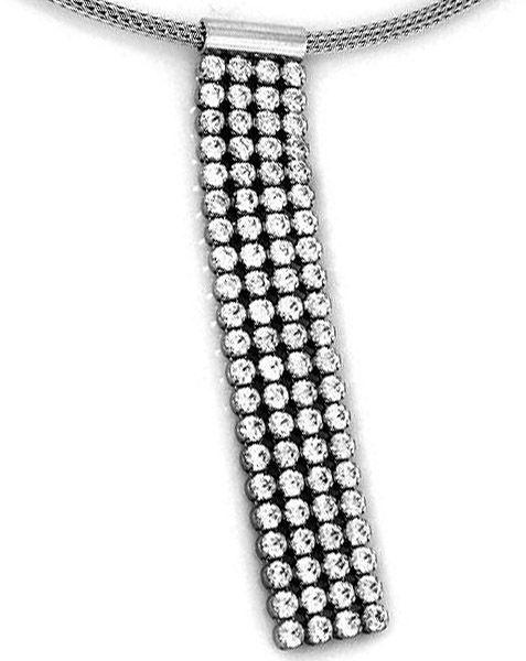 Srebrny naszyjnik 925 wisior z cyrkoniami 8,48 g