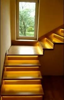 18 schodów - zestaw do oświetlenia schodów szerokość oświetlenia 90 cm