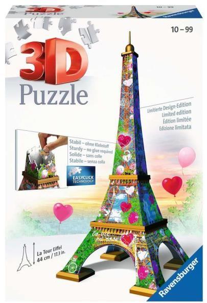 Puzzle 3D 216el Wieża Eiffla 111831 RAVENSBURGER ZAKŁADKA DO KSIĄŻEK GRATIS DO KAŻDEGO ZAMÓWIENIA